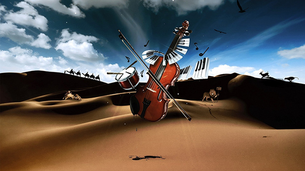drum-violin-piano-in-desert-1366x768-wallpaper-3885