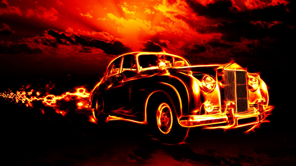 vintage-car-in-fire-1366x768-wallpaper-9720