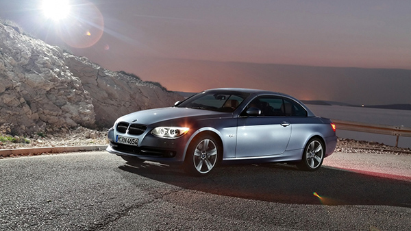 BMW 3 Series Silver 2010 Top Up Wallpaper